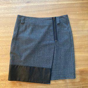 Killion leather trimmed skirt